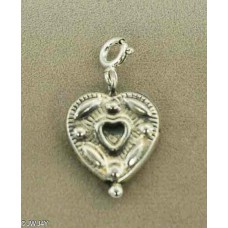 Heart with engraving (925 Silver)