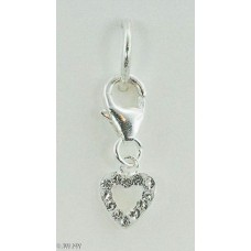 Crystal Heart (925 Silver)