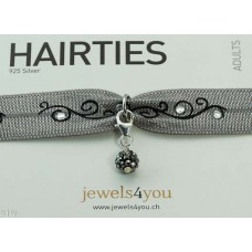 Sparkling grey ball (925 Silver)